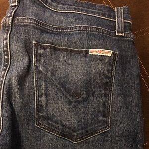 Hudson crop dark jean